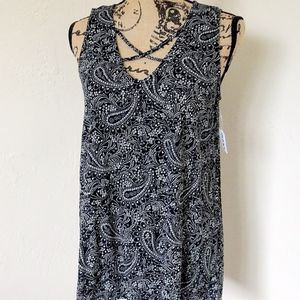 NWT Black n White Paisley Old Navy Tank Top Size S
